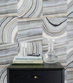 Strata Marble Tile Wallpaper