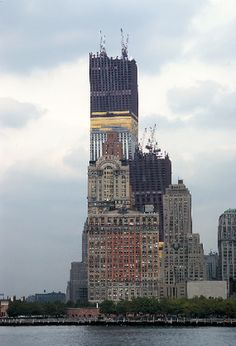 Twins Construction 1972:  first time I have seen a picture of the twin towers when they were being built....