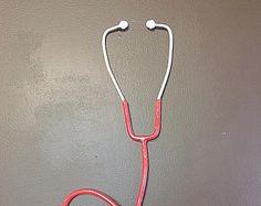 welded metal Stethoscope sculpture wall art