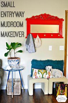 Small Entryway Mudroom Makeover