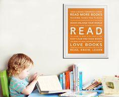An art print about reading