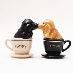 Cocker Spaniels Ceramic Magnetic Salt and Pepper Shakers Collection Set,$14.97