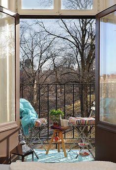 Herfst balkon