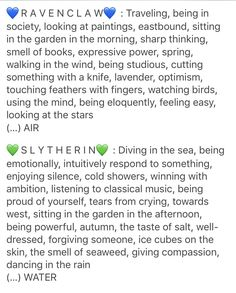 My two favorite houses and (coincidence? nah) the ones I belong to. Proud Slytherclaw member Slytherin Harry Potter, Slytherin Pride, Harry Potter Marauders, Slytherin Aesthetic, Harry Potter Aesthetic, Harry Potter World, Harry Potter Memes, Ravenclaw, Slytherin Traits