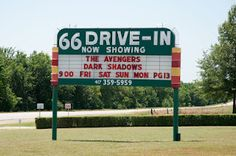 66 Drive-In along Route 66 in Carthage, MO
