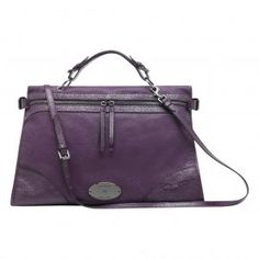 Fashion Mulberry MSA-13 Purple Matte Leather Bags Sale : Mulberry Outlet £168.99
