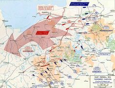 Map of the Tannenberg Campaign 1914 - Movements August 17-23, 1914