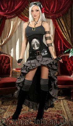 <p>We have licensed this beautiful design from SteampunkCouture, combining the beauty of Kato and her designs with our professional tailors.</p><br /> <p>Fabric: no stretch</p><br /> <p>Material: 65% cotton, 35% polyester</p><br /> <p>The waist can be adjusted with the attached belt.</p>