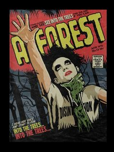 Rare Mini Print/Poster - Size: A4 (Approximately: 21 cm x 29.7 cm) 8.27 inches x 11.7 inches. Vintage Comic Books, Vintage Comics, Best Post Apocalyptic Movies, The Cure Songs, I Robert, Robert Smith, Forest Art, Goth Art, Band Posters