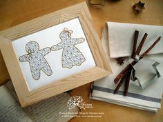 How to create a blackwork embroidery using cookie cutters (plus a free fill-in pattern for your Christmas projects).  FREE TUTORIAL by Valentina Sardu for Ajisai Press