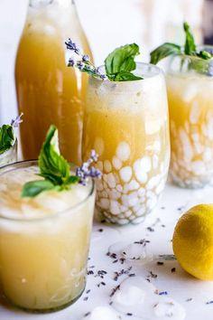 Lavender Basil Lemonade | a healthy drink to sip on all summer! halfbakedharvest.com @hbharvest