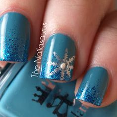 The Nailasaurus: 12 Days of Christmas Nails: Day 1