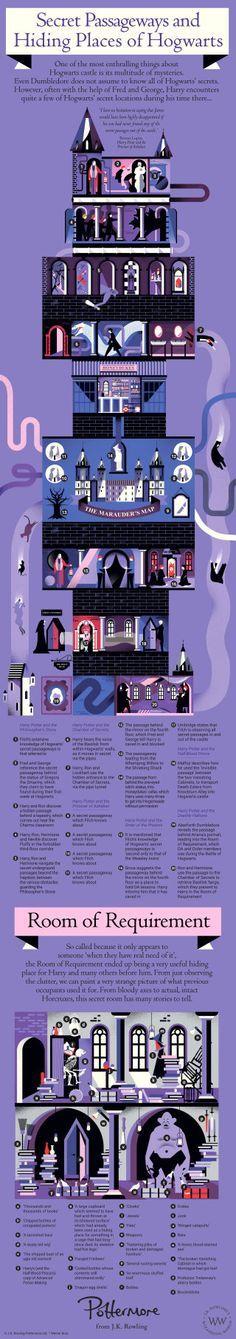 Harry Potter - Secret Passageways of Hogwarts Harry Potter Plakat, Mundo Harry Potter, Theme Harry Potter, Harry Potter Books, Harry Potter Fandom, Harry Potter World, Harry Potter Memes, Magie Harry Potter, Harry James Potter