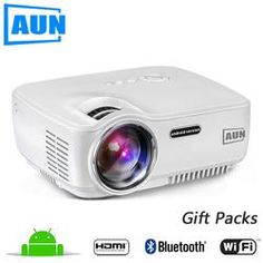LED Projector Set in Android 4.4 WIFI Bluetooth Support
