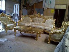 Set Sofa Barcelona Gold Duco.  Phone : +6282332819048. BBM : 7ce338e5. WA : +6282332819048.