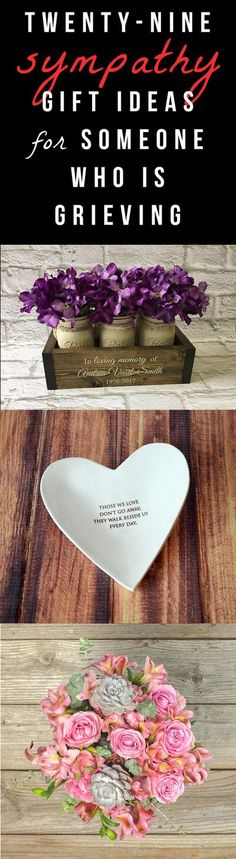 29 Sympathy Gifts for Someone Who Is Grieving Loss Of Loved One, Losing A Loved One, Funeral Gifts, Funeral Ideas, Funeral Etiquette, Grieving Gifts, Personalized Memorial Gifts, Instead Of Flowers, Bereavement Gift