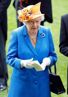 ASCOT, UNITED KINGDOM - JUNE 16: (EMBARGOED FOR PUBLICATION IN UK NEWSPAPERS UNTIL 48 HOURS AFTER CREATE DATE AND TIME) Queen Elizabeth II attends day 3 'Ladies Day' of Royal Ascot at Ascot Racecourse on June 16, 2016 in Ascot, England. (Photo by Max Mumby/Indigo/Getty Images) via @AOL_Lifestyle Read more: https://www.aol.com/article/lifestyle/2017/10/31/heres-the-little-known-history-behind-duchess-kates-sapphire-blue-engagement-ring/23262471/?a_dgi=aolshare_pinterest#fullscreen