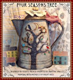 Painting With Friends E Pattern - Four Seasons Tree. $5.00, via Etsy.