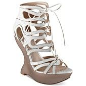 Truth or Dare by Madonna Shoes, Cerildee Geometric Platform Wedge Sandals