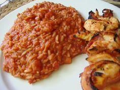 Griechischer Tomatenreis 44 Cucumber Appetizers, Cucumber Bites, Veggie Recipes, Chicken Recipes, Detox Tea Diet, Pizza, Risotto, Meal Planning, Cravings