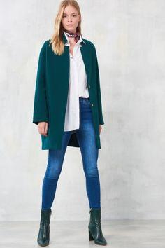 Yeşil Kaşe Kaban Duster Coat, Normcore, Jackets, Style, Fashion, Down Jackets, Swag, Moda, Fashion Styles