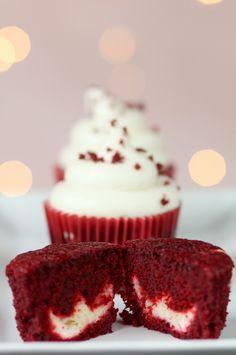 Delicious Surprise Red Velvet Cupcakes