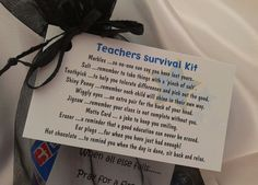 Little BAG of BITS Teachers Survival Kit male or by CheerUpCrafts