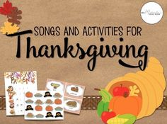 Looking for fun musical activities for Thanksgiving?  This set includes visuals, worksheets, songs, and more!