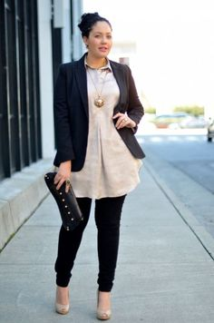 Cute Outfits For Plus Size Women. Graceful Plus Size Fashion Outfit Dresses for Everyday Ideas And Inspiration. Plus Size Refashion. Curvy Girl Fashion, Work Fashion, Womens Fashion, Fashion Trends, Fashion Ideas, Fashion Outfits, Fashion Fashion, Dress Fashion, Fashion Black
