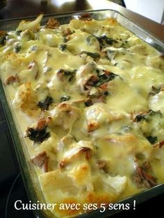 Gratin de chou fleur , pommes de terre et thon Healthy Crockpot Recipes, Veggie Recipes, Healthy Cooking, Vegetarian Recipes, Cooking Recipes, One Pot Meals, Easy Meals, Batch Cooking, My Best Recipe