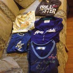 5shirts fore 20$!!!!! 1 Hollister 2 American eagle and 2 Aeropostale T-shirts Aeropostale Tops Tees - Short Sleeve