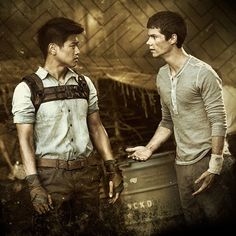 Thomas and Minho from the new Maze runner movie coming out in September. Can't wait!