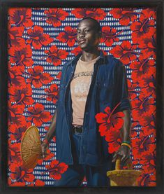 Kehinde Wiley – Benin Mother and Child – 2008 Peinture à l'huile – 182 cm x 152cm