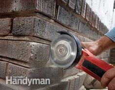 How To Repair Mortar In A Brick Wall Brick Face