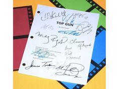 Top Gun Script Signed Tom Cruise, Kelly McGillis +more