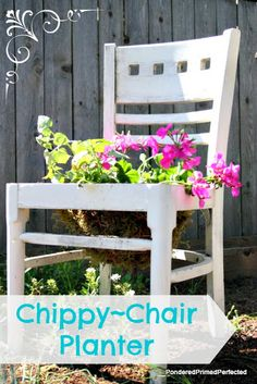 Pondered.Primed.Perfected: DIY Chair Planter ~ For the Flower Garden