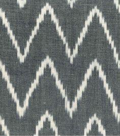 Southwest Apparel Fabric-Ikat Shirting Black & Ivory, , hi-res