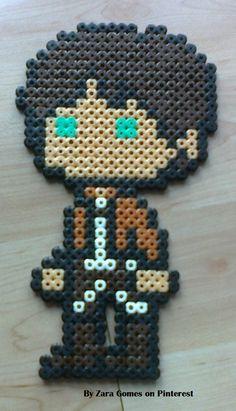 Eren Yeager - Attack on Titan hama beads by Zara Gomes