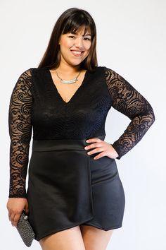 Gstagelove Plus Size Maxi Dress Black