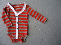 Baby Cardigan Onesie - Preppy Baby Boy Sweater - Perfect for Fall. Cincinnati