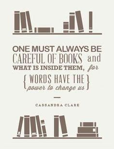 Be careful of books