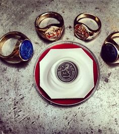 Signet rings made for the whole family