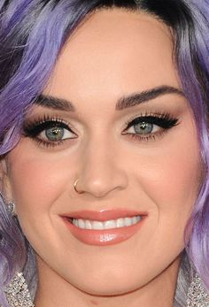 Close-up of Katy Perry at the 2015 Grammy Awards. http://beautyeditor.ca/2015/02/10/grammys-2015