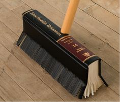 Book broom. This feels a little wrong, somehow.