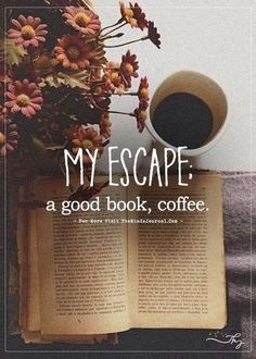 My escape - Coffee and Books I Love Books, Good Books, Books To Read, My Books, Pics Of Books, Quotes For Book Lovers, Good Book Quotes, Quotes On Books, Book Wallpaper