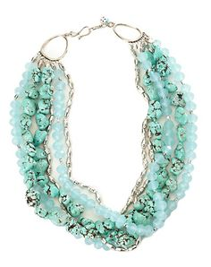 Lucky brand multistrand mint- bridesmaid jewelry