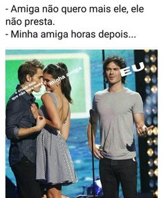 #piadinhas Top Memes, Funny Memes, Damon And Stefan, Vampire Daries, Hello Brother, Freaking Hilarious, Nerd, The Vampire Diaries, Series Movies