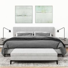 Abstract Paintings, Contemporary Paintings, Modern Interior, Interiors, Bed, Room, Furniture, Home Decor, Bedroom