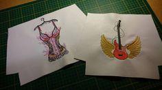 Sexy underwear machine embroidery design