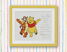 Winnie the Pooh Cross Stitch Pattern, Quote